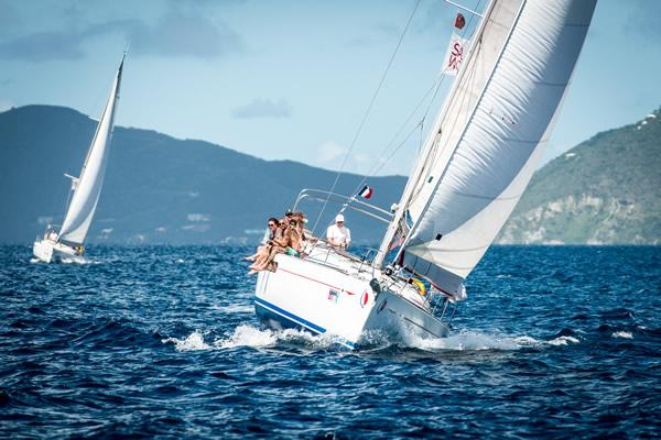 Two yachts sailing