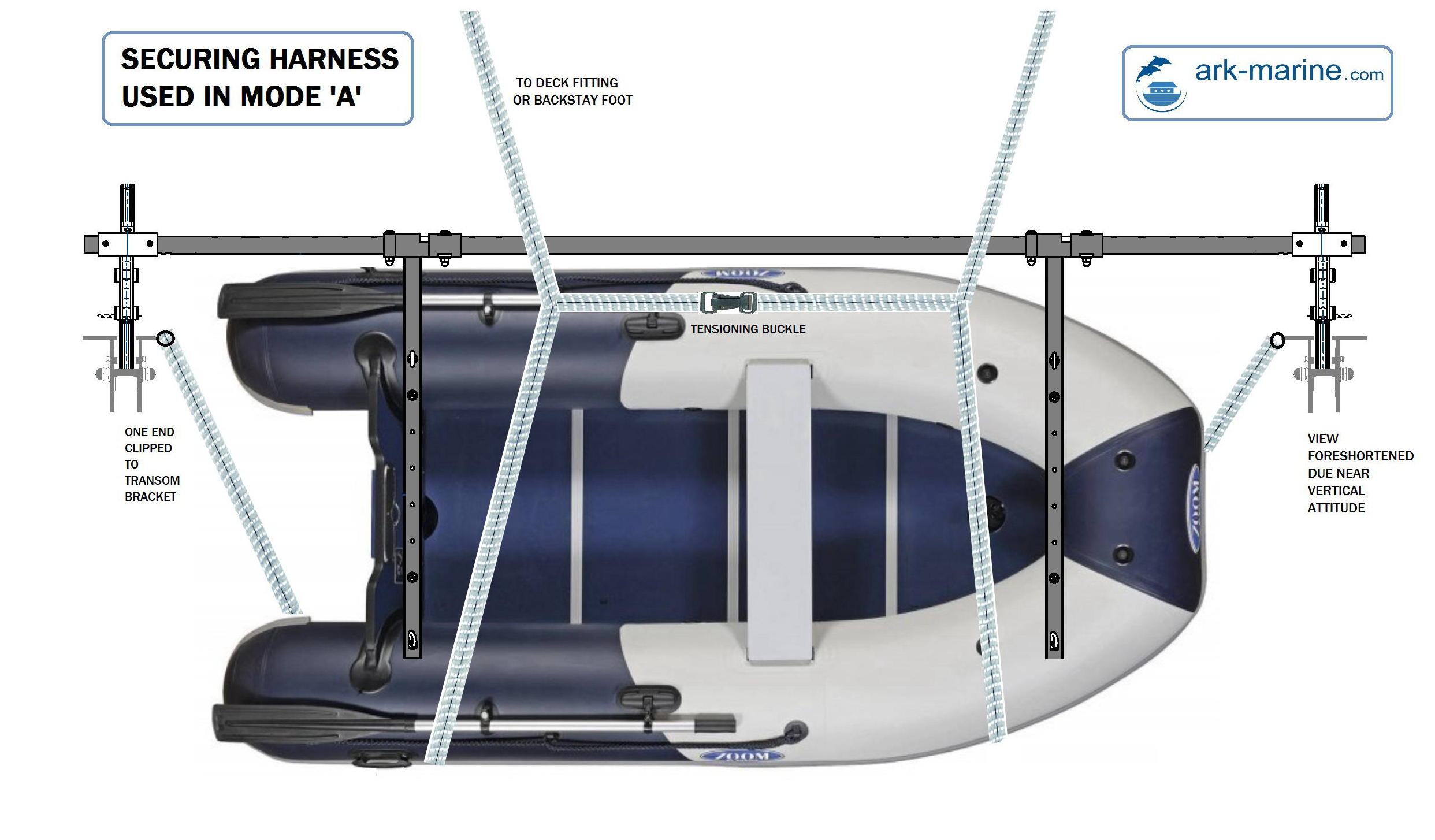 Plan view of Dinghy Mode A